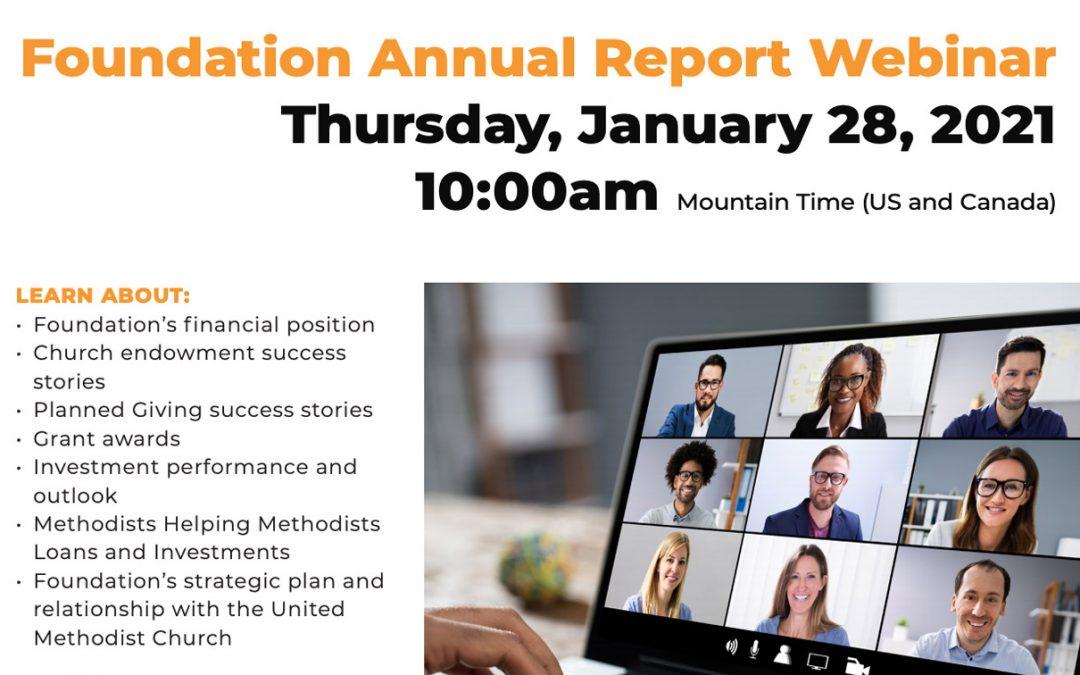 2020 Annual Report Webinar